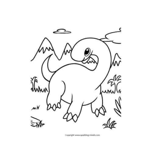 Dinosaur coloring page for kids