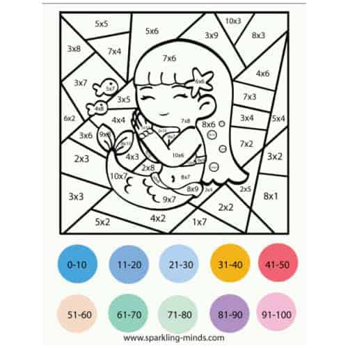 Unicorn Color by Number (Addition and Subtraction): Math ...