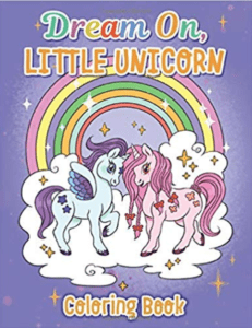 unicorn coloring book cover