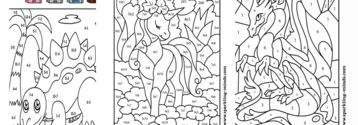 - Math Coloring Worksheets For Kids - Sparkling Minds