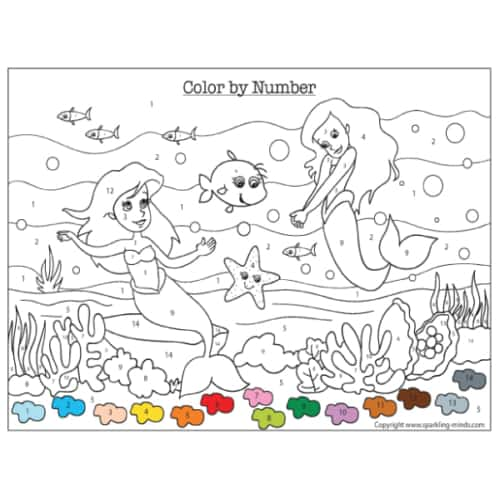 Unicorn Color by Number (Addition and Subtraction) - Sparkling Minds