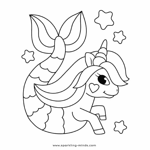 - UNICORN MERMAID Coloring Page - Sparkling Minds