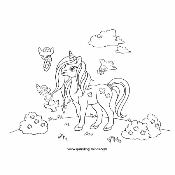 unicorn coloring page image