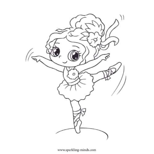 ballerina coloring page for kids