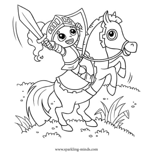 UNICORN PUPPY Coloring Page for Kids - Sparkling Minds