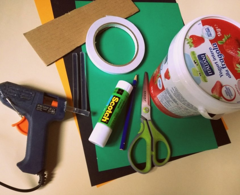 image of craft material for trick or treat bag for kids