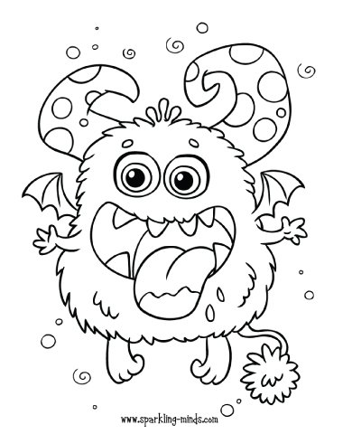 cute monster coloring page