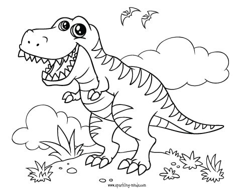 t rex coloring page